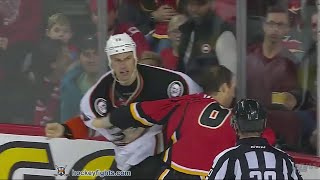 getlinkyoutube.com-Ryan Getzlaf vs Dennis Wideman Dec 29, 2015