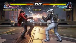 Tekken 7  Hassan  Naruto(Howrang) vs Mubashir(Jin) ManiaX fighters cup s2