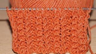 getlinkyoutube.com-Вязание спицами для начинающих. Болгарская резинка  ////  Knitting for beginners. Bulgarian gum