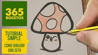 COMO DIBUJAR UNA SETA KAWAII PASO A PASO - Dibujos kawaii faciles - How to draw a mushroom
