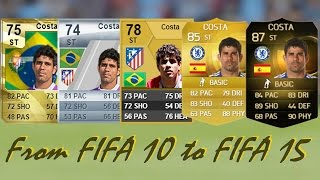 getlinkyoutube.com-Diego Costa Ultimate Team Cards from FIFA 10 to FIFA 15