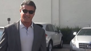 getlinkyoutube.com-Sylvester Stallone And Hell's Angel Chuck Zito Get Lunch