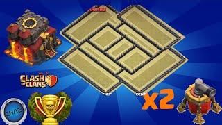 getlinkyoutube.com-Clash of Clans - TH10 Trophy / Clan war Base + Defense Replay _ [X2 Air Sweeper]