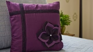 getlinkyoutube.com-How to Make a Flower Pillow Sham