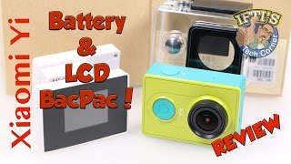 getlinkyoutube.com-Xiaomi Yi Action Camera Accessories - LCD Display & Battery BacPac! - REVIEW