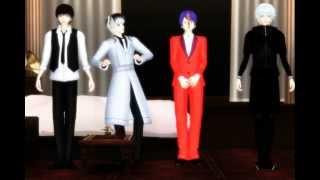getlinkyoutube.com-【MMD x Tokyo Ghoul】Minions Banana Song 【Kaneki, Haise & Tsukiyama】