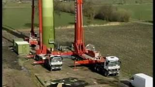 getlinkyoutube.com-The World Biggest  Crane LTM 15300 hebt Flutschutztor