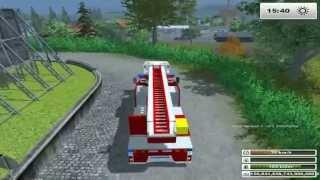 getlinkyoutube.com-LS13 Feuerwehreinsatz der Feuerwehr Waldstetten