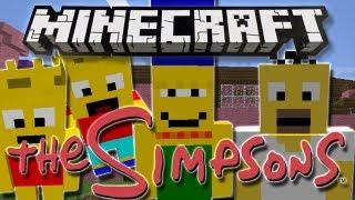 getlinkyoutube.com-Minecraft | THE SIMPSONS! | Mod Showcase [1.4.7]
