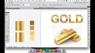 getlinkyoutube.com-Adobe Illustrator Gradient GOLD text, logo