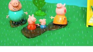 getlinkyoutube.com-Peppa Pig свинка Пеппа и ее семья. Мультфильм для детей. Дождливый день