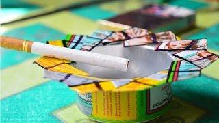 getlinkyoutube.com-cara membuat asbak rokok bahan kaleng bekas