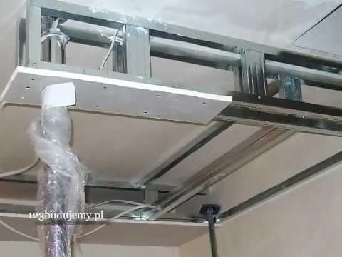Etapy budowy półki z regipsu w holu