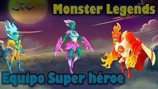 getlinkyoutube.com-Monster Legends - Equipo Super Héroe [VoltaiK, Cyan Nathura Y The Firestorm]