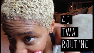 Natural Hair: Quick way to style a TWA (4C)