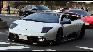 getlinkyoutube.com-超爆音!! 都内でスーパーカーチーム「KHR」に遭遇! [HD] Amazing sound Supercar group in Japan!