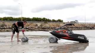 getlinkyoutube.com-Jet Hitch - Transporting, Launching and Retrieving You Standup Jetski With No Trailer