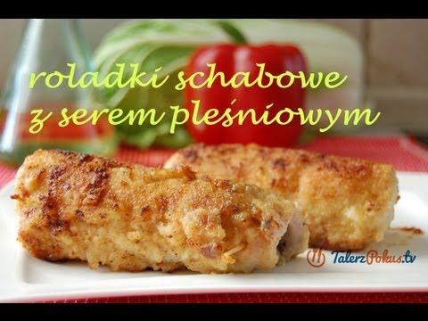 Roladki schabowe z serem pleśniowym