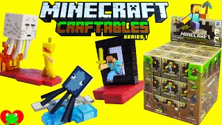 getlinkyoutube.com-Minecraft Craftables Series 1 Blind Box Buildable Figures