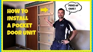getlinkyoutube.com-How To Install A Pocket Door In An Existing Wall - Cavity Slider
