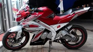getlinkyoutube.com-Motor Trend Modifikasi | Video Modifikasi Motor Yamaha New Vixion Lightning Striping Terbaru