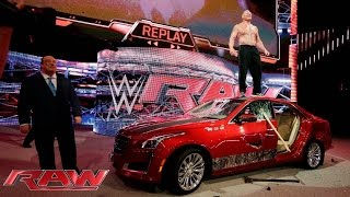getlinkyoutube.com-Brock Lesnar destroys J&J Security's prized Cadillac: Raw, July 6, 2015