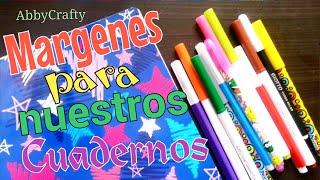 getlinkyoutube.com-6 IDEAS DE MÁRGENES PARA DECORAR NUESTROS CUADERNOS! //AbbyCrafty
