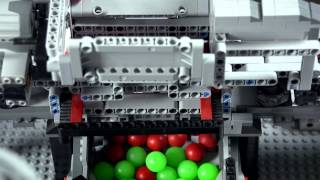 getlinkyoutube.com-Lego Technic ● Mindstorms ● Ball sorting machine