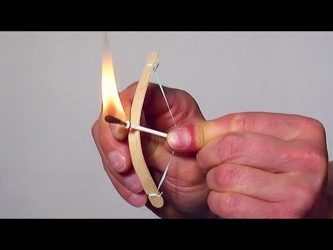 How to Make a Mini Bow and Arrow