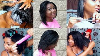 getlinkyoutube.com-RELAXER DAY 2016: START TO FINISH + Blow Dry, Flat Iron, Trim, & Style