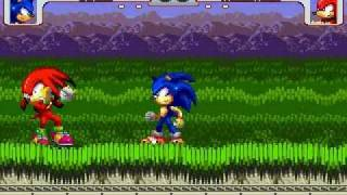 getlinkyoutube.com-Sonic vs Knuckles MUGEN Battle!!! (Rivals)