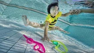 getlinkyoutube.com-น้องถูกใจ | เล่นดำน้ำเก็บของ | GoPro Dome Port