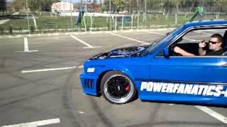 getlinkyoutube.com-BMW E30 M5 turbo(BH 04 ARO) burnout show inside