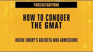 How to Conquer GMAT