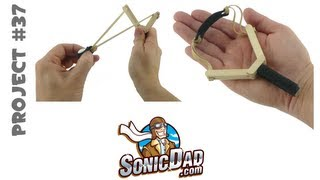getlinkyoutube.com-How to Make a Slingshot - SonicDad Project #37 (Mini Slingshot)
