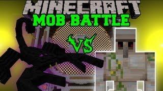 getlinkyoutube.com-IRON GOLEM VS EMPEROR SCORPION - Minecraft Mob Battles - Orespawn Mod Battle