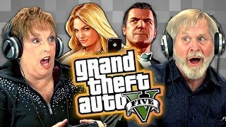 getlinkyoutube.com-Elders Play Grand Theft Auto V (Elders React: Gaming)