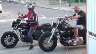 getlinkyoutube.com-Balade en Moto en Keeway Superlight et Harley Davidson Slim.