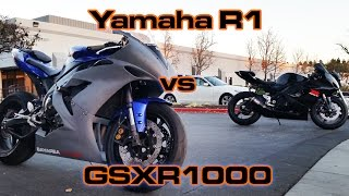 getlinkyoutube.com-R1 vs GSXR1000