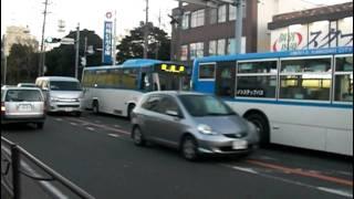 getlinkyoutube.com-川崎市バス 車両故障したバスをバスでけん引する(救援)