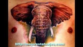 getlinkyoutube.com-Los Mejores Tatuajes De Elefantes