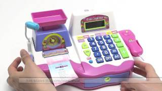getlinkyoutube.com-Toy cash register girls SCALE CALCULATOR AND SOUNDS INCLUDES ACCESSORIES