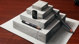 How to Make a 3D Concrete Pyramid | Anamorphic Drawing