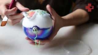 getlinkyoutube.com-Милосердное рукоделие: декупаж на елочном шаре