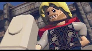 getlinkyoutube.com-LEGO: Marvel Superheroes - Chapter 7: Bifrosty Reception (Thor, Wolverine, Human Torch, Cap)