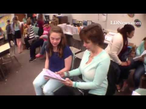 Suzanne Hermansky's language arts class tea party#LDNews