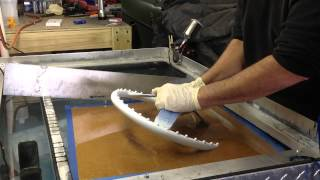 getlinkyoutube.com-Hydro Dipping water transfer woodgrain steering wheel