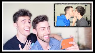 getlinkyoutube.com-REACTING TO OUR FIRST KISS