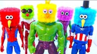 getlinkyoutube.com-Bunchems Superhero Hulk Learning Colors for Kids Finger Family Song Kinder Surprise EggsVideos