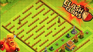 "getlinkyoutube.com-""THE MINI MAZE BASE!"" - Clash of Clans - LVL 1 TOWN HALL 8 MAZE BASE! Low Level Trolling"